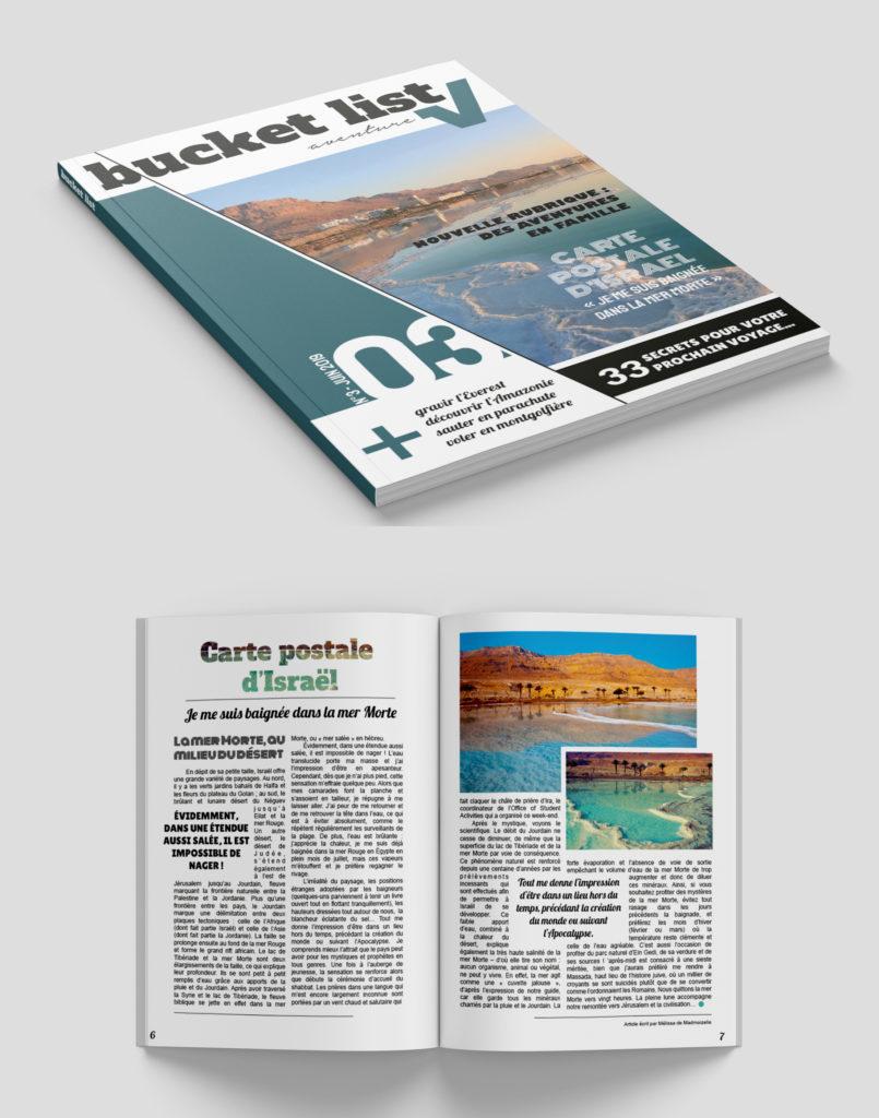 Projet d'étude de mise en page pour un magazine